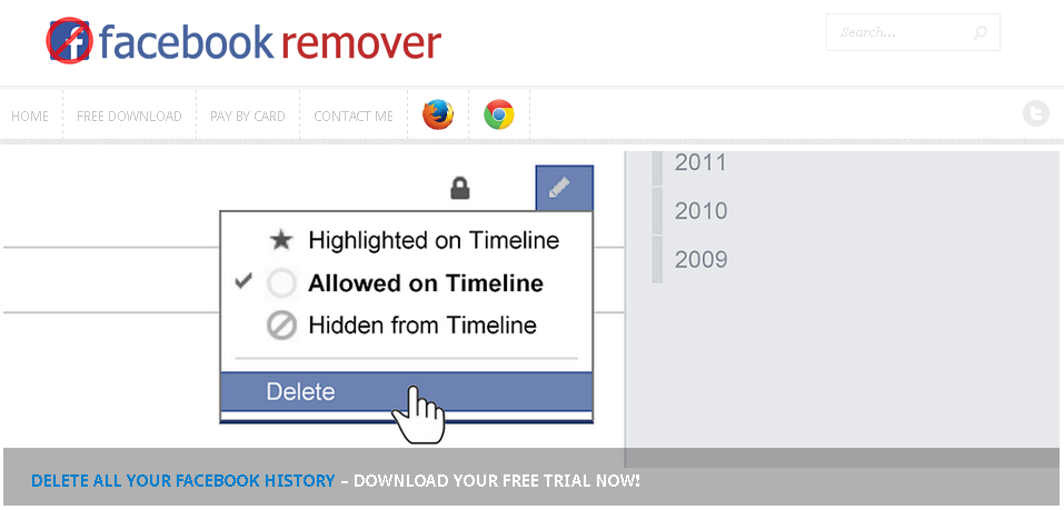 Facebook Activity Remover ili kako izbrisati sebe