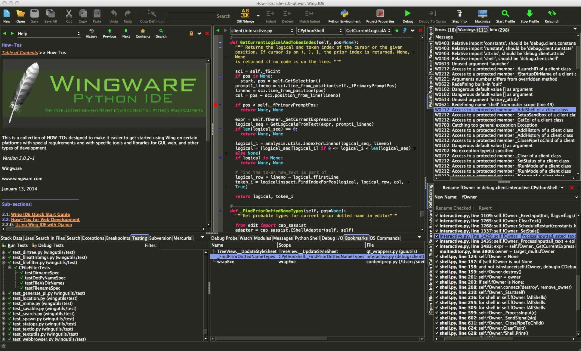 Probao sam (programirati): Wing IDE 5